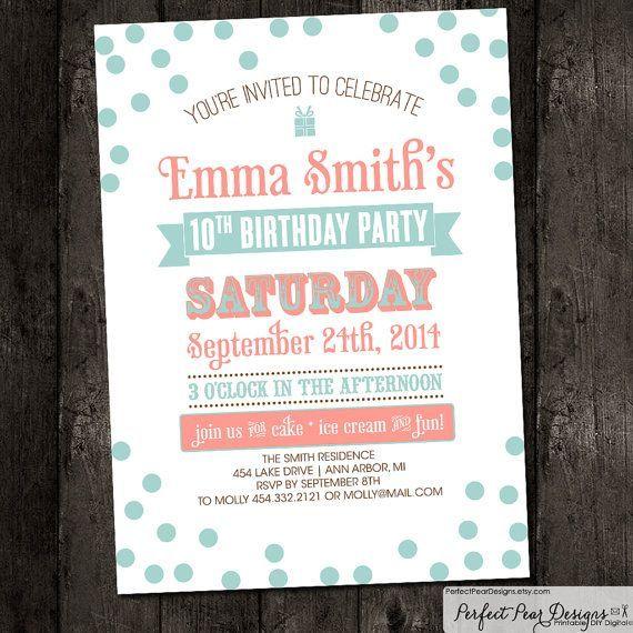 17 best images about Birthday invitation ideas – 15th Birthday Invitation