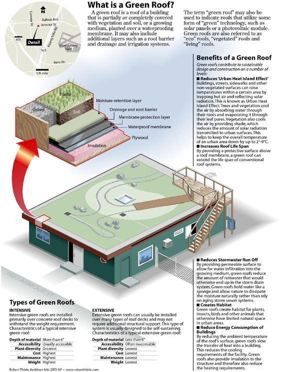 Green Roof Infographic – Robert Thiele Architects: