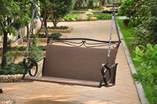 Valencia Resin Wicker With Steel Frame Double Patio Swing