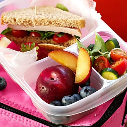Healthy lunch box meals.