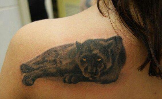 Good detail on this panther tattoo