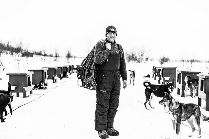 Dag Torulf Olsen. Dog-sledger from Hammerfest, Norway
