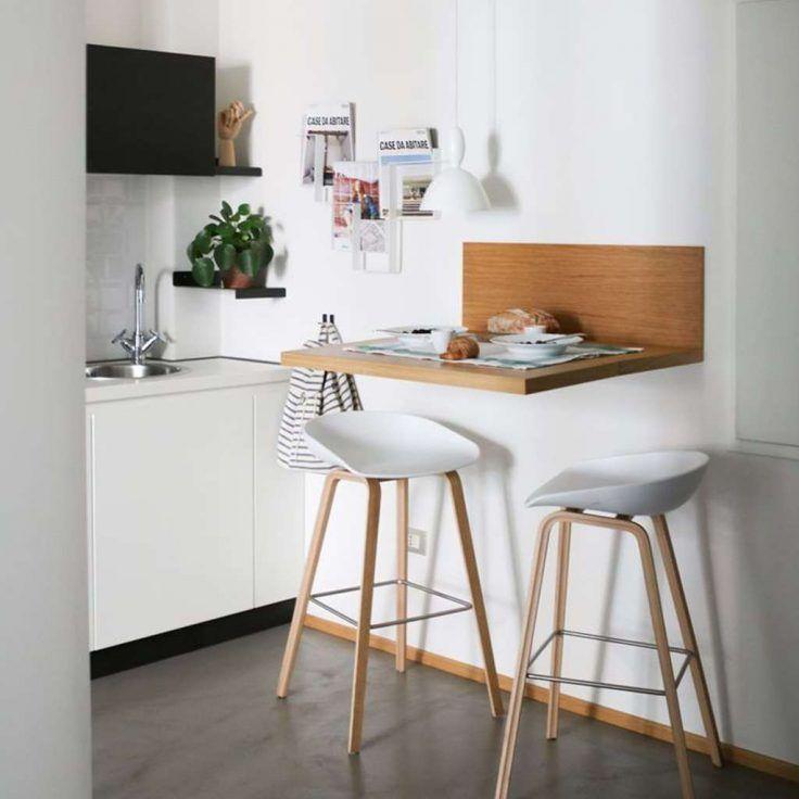 Petite Cuisine 31 Idees Sympas Pour S Installer Un Coin Repas Cuisine Appartement Deco Petite Cuisine Tabouret Cuisine