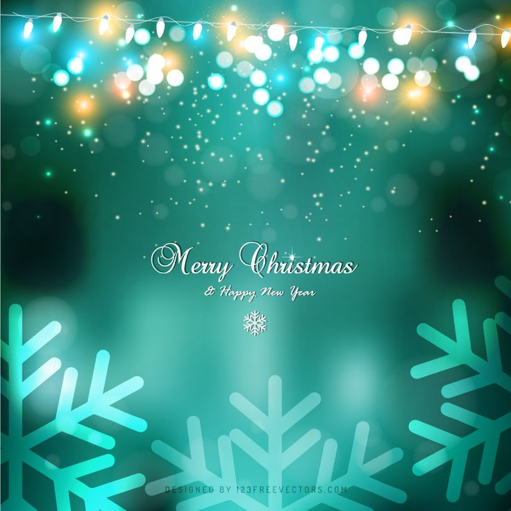 Turquoise Christmas Lights Background Template  - https://www.123freevectors.com/abstract-turquoise-christmas-lights-background-template-77749/
