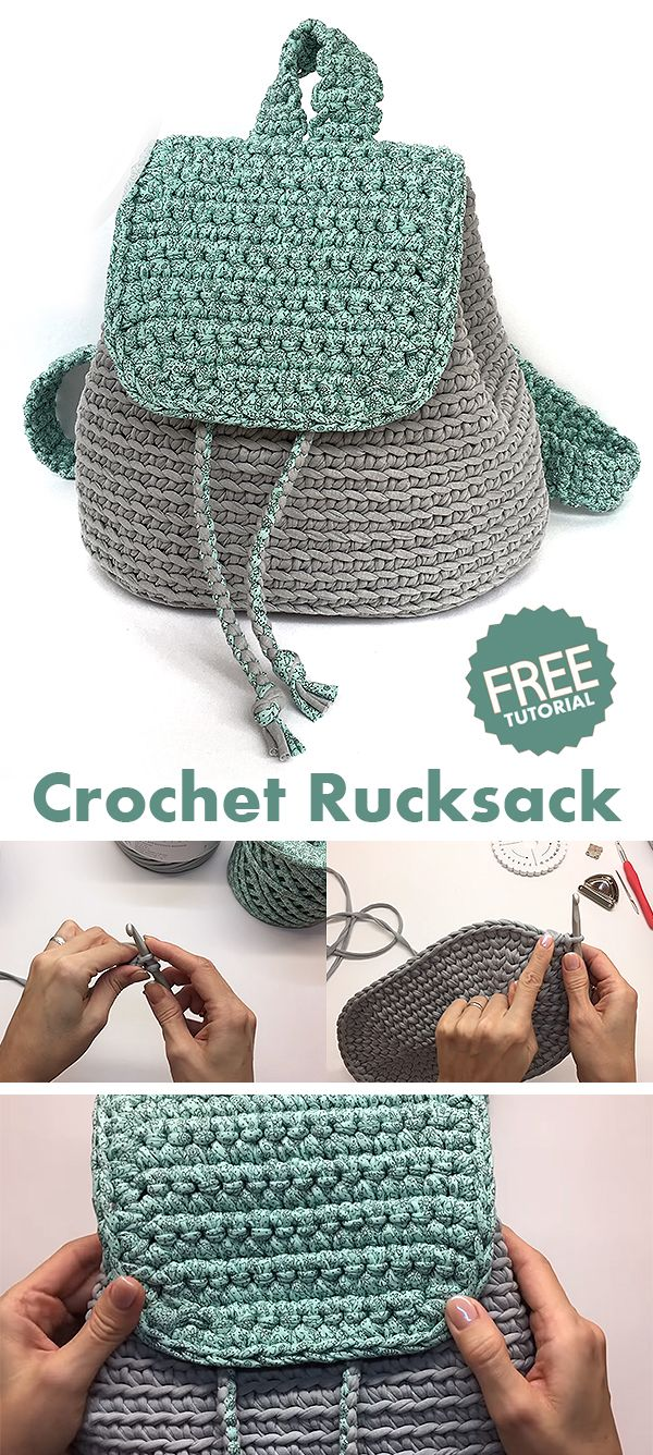 Rucksack / Backpack / Bag – learn how to crochet