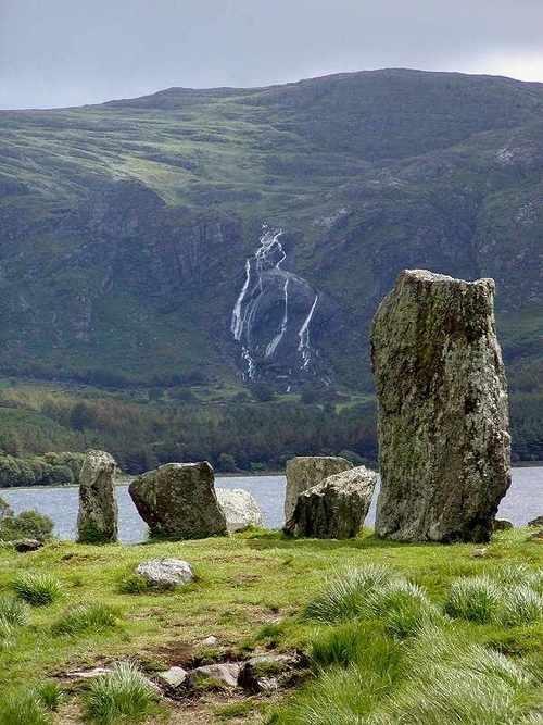 Stone circle at Uragh, Co. Kerry, Ireland.