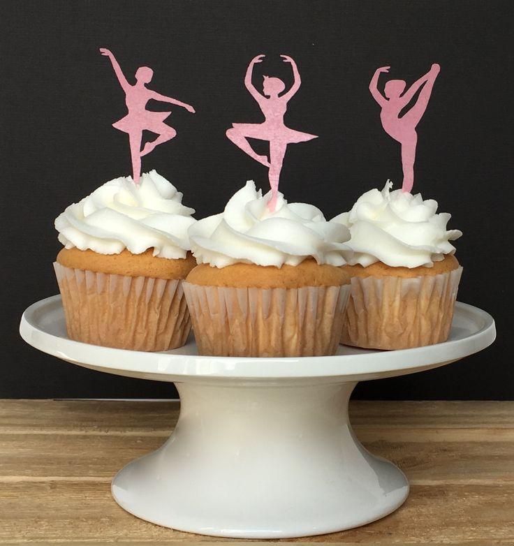 Dance Party, essbare Cupcake Toppers, Ballerina, Ballett Party, Tänzerin, Food Safe Oblatenpapier, Sparkle, lesen Sie bitte Artikel Details von Silvermisted auf Etsy https://www.etsy.com/de/listing/219507787/dance-party-essbare-cupcake-toppers