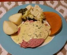 Recipe Cornmeat / silverside, vege & creamy parsley mustard sauce by lailahrosebowie1993 - Recipe of category Main dishes - meat