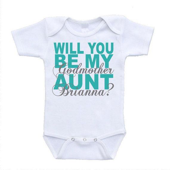 Will you be my godmother personalized ANY by urbanskiesboutique, $11.95