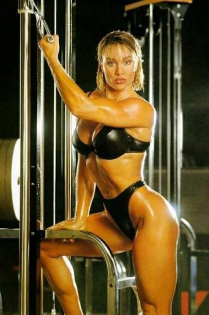 Fitness Sexy Woman Body Builders Pics With White