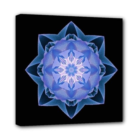 Canvas print fractal Stardust darkblue - also for sale on www.etsy.com/shop/droomcreaties