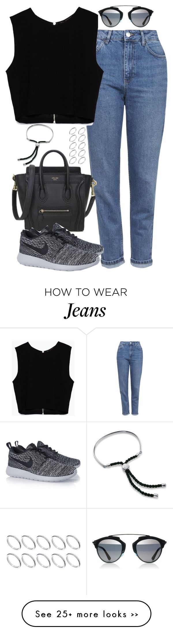 """""""Untitled #4753"""" by eleanorsclosettt on Polyvore featuring Topshop, Zara, NIKE, ASOS and Monica Vinader"""