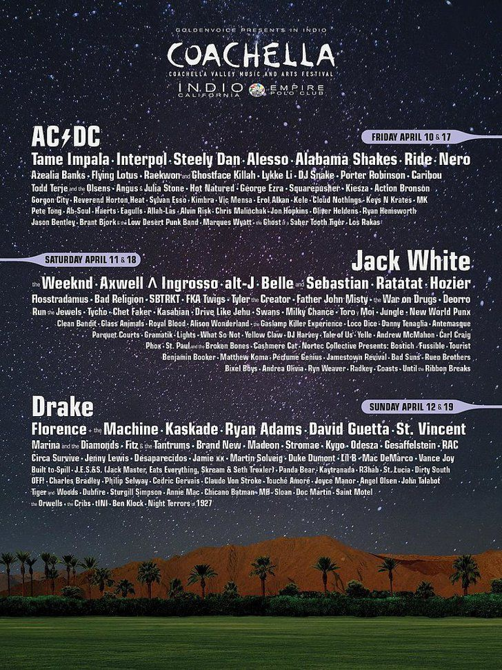 Pin for Later: Coachella's 2015 Lineup Is Here! See Who's Joining Drake and AC/DC