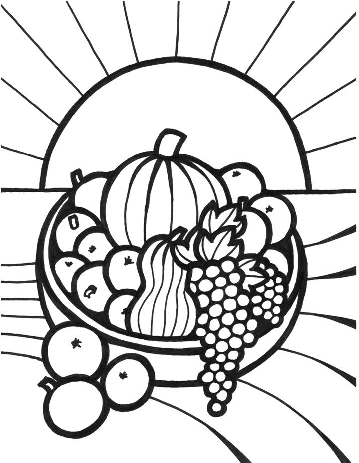 Free fruits and vegetable coloring pages ~ 48 best images about fruit and veggie coloring pages on ...
