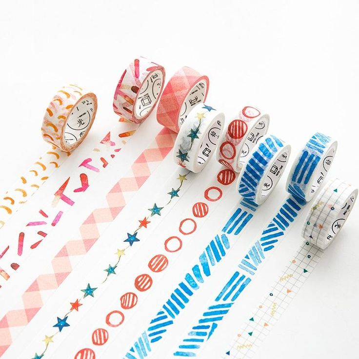8 pcs/Lot Deco masking tape set Star Colored tapes 15mm*7m Vintage paper washi sticker for diary Stationery school tools 6492