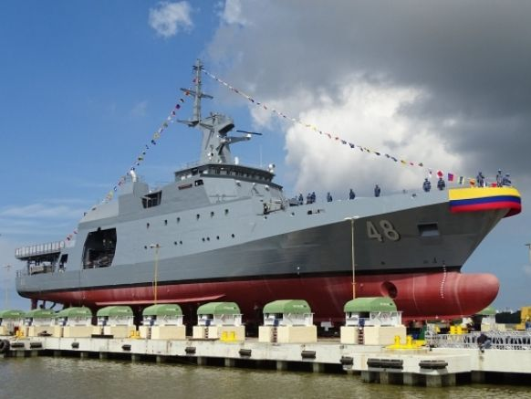 Botado el tercer OPV de COTECMAR para la Armada Nacional de Colombia-noticia defensa.com