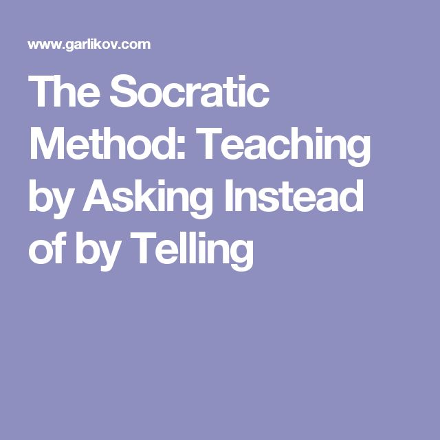 The Socratic Method Teaching by Asking Instead of by