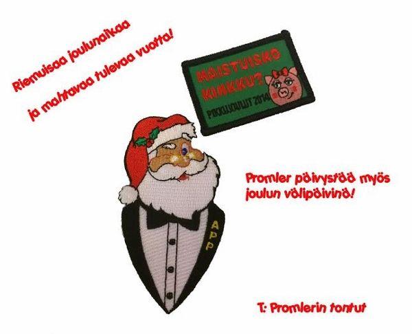 Promler toivottaa kaikille rauhallista joulua ja loistavaa vuotta 2015!  Ensi vuonna lupaamme olla entistä parempia, mukavampia, kohteliaampia, auttavaisempia, laihdutetaan varmaan pari kiloa ja syödään terveellisesti. Mukavuuden ja avuliaisuuden lisäksi lupaamme pitää edelleen kiinni tyytyväisyystakuusta ja ilmaisesta suunnittelupalvelusta! Palvelemme sinua myös joulun ja uudenvuoden välipäivien ajan.