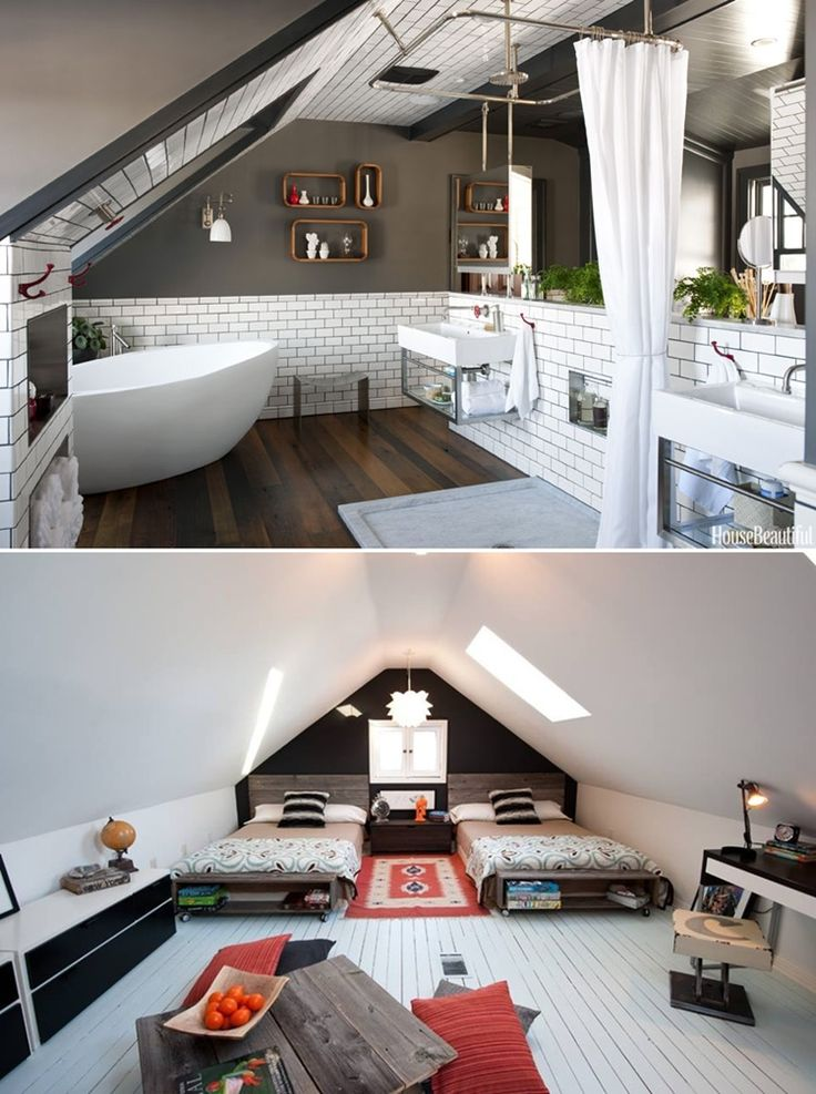 love the attic bedroom guest bed in bleys room could work well or a settee where the second bed is - Ideas For Attic Bedrooms