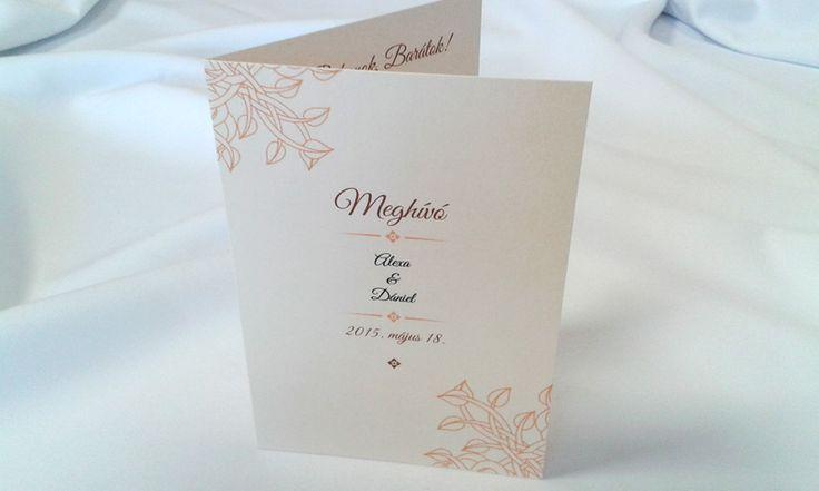 egyedi grafikus esküvői meghívó 073.1