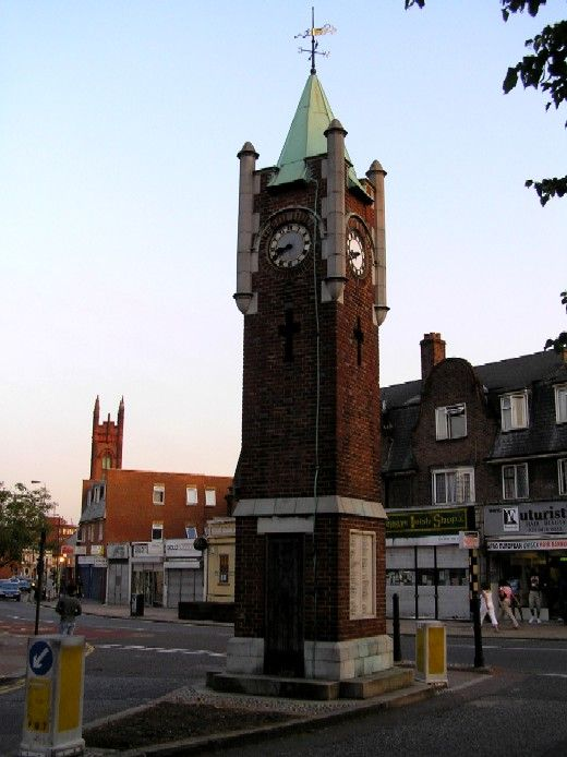The Wealdstone War Memorial, used to call this the Clock tower. There was a sweet shop nearby, which was my favourite place to buy sweets on the way home from school.