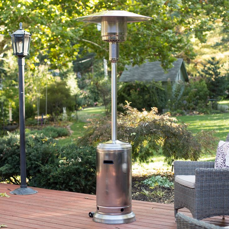Fire Sense Stainless Steel Patio Heater Warmth Radiates Year Round When The Stands Tall On Your Porch Or