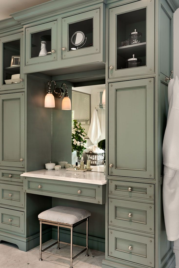 Makeup vanity for bathroom - Make Up Vanity Master Bathroom Crisp Architects