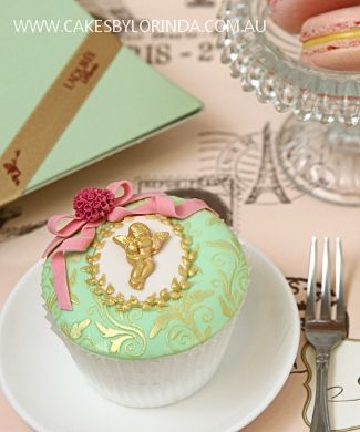 Laduree Cupcake. I wish they were closer to actually take some of their classes! would be FUN!