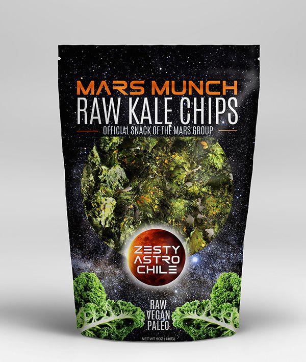 Ik ben niet zo van de kale chips (hoewel tijdens een dineetje recent heerlijke gefrituurde boerenkool gegeten!) maar toch - MARS MUNCH | Logo & Packaging Design on Behance
