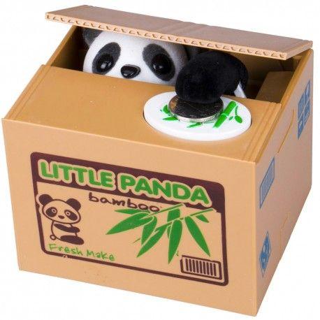 Tirelire panda voleur #tirelire #gadget #cadeau #panda #cleptomane