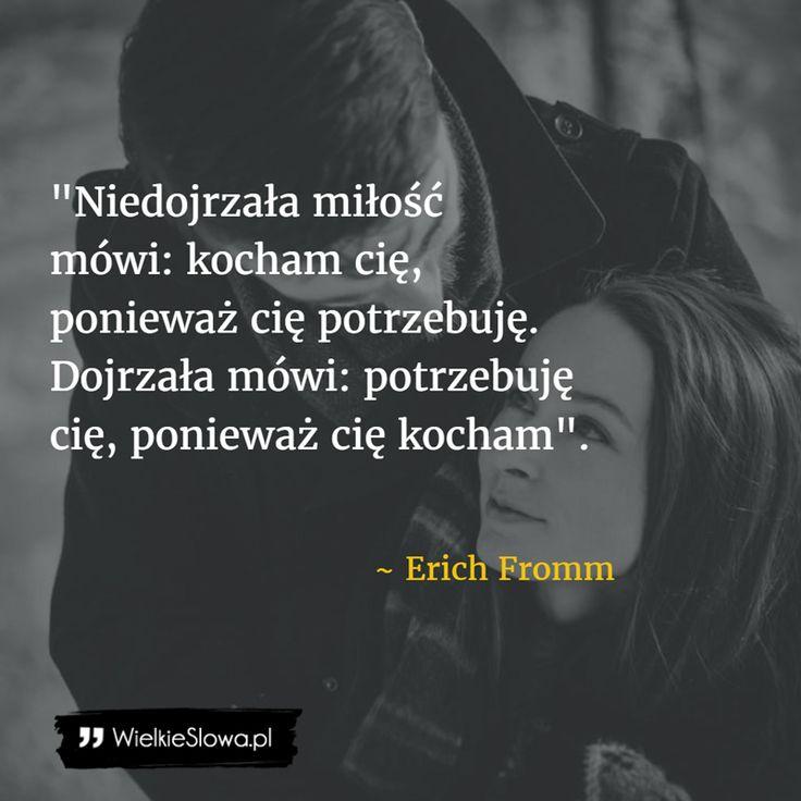 Niedojrzała miłość vs dojrzała miłość #Fromm-Erich, #Miłość