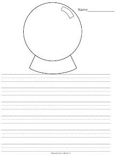 Snow globe writing paper