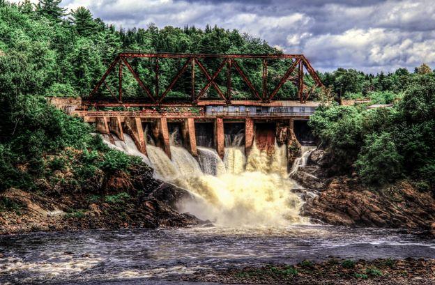 Man Made Falls at Espanola, Ontario