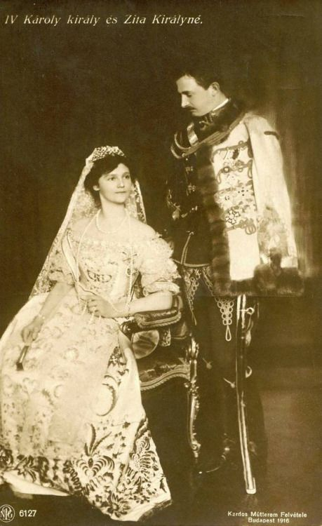 Charles IV and Zita, King and Queen of Hungary, 1916
