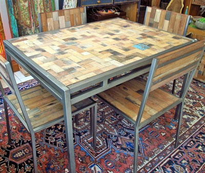 The Perfect Beach House Furniture: Reclaimed / Salvaged Boat Wood Dining  Table, x from Impact Imports - Located in Boise & Philadelphia and online. - 62 Best Images About Reclaimed Boat Wood Furniture On Pinterest