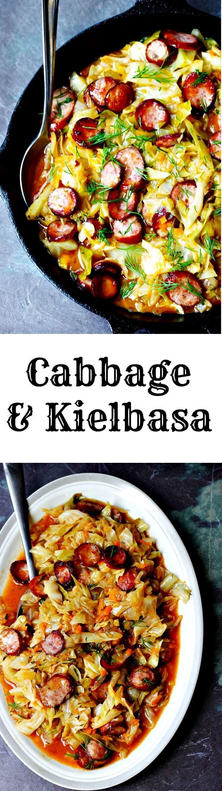 Cabbage and Kielbasa come together to form a perfect Polish summer hunter's stew. It's made from young cabbage, that is at its peak at the begging of the summer, with the addition of a smoky Polish sausage and a fragrant dill. It makes for a delicious European treat.