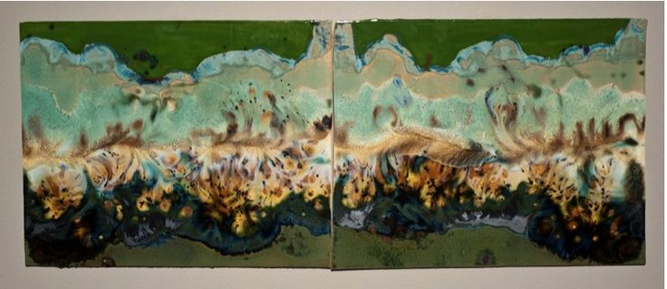 "Liquid Rain Forest, Porcelain, $800 pair, $450 individually, 10"" x 10"", http://transformgallery.com/Judith-Weber/"