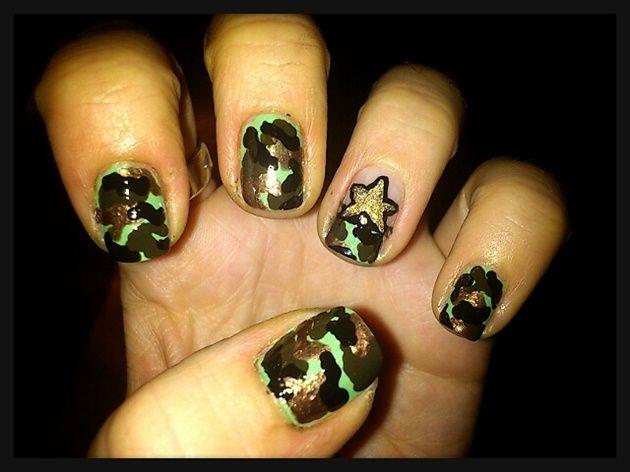 Army Nail Art by Love4Beauty - Nail Art Gallery nailartgallery.nailsmag.com  by Nails - The 25+ Best Army Nail Art Ideas On Pinterest Army Nails