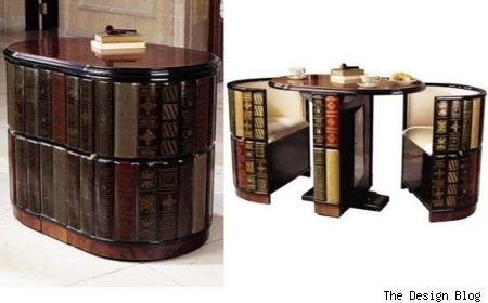 I would feel like a James Bond soccer mom with this in my living room! (bookcase is a secret compartment with tea for two)