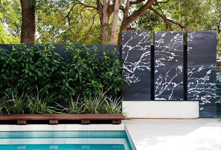 OFTB Melbourne landscaping, pool design & construction project - pool, pool terrace inc. feature pool fencing, sunbathing deck, outdoor livi...