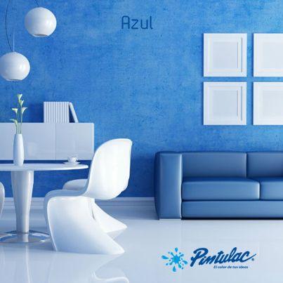 Pintar las paredes de azul el azul es curativo y for Pintura color azul piedra