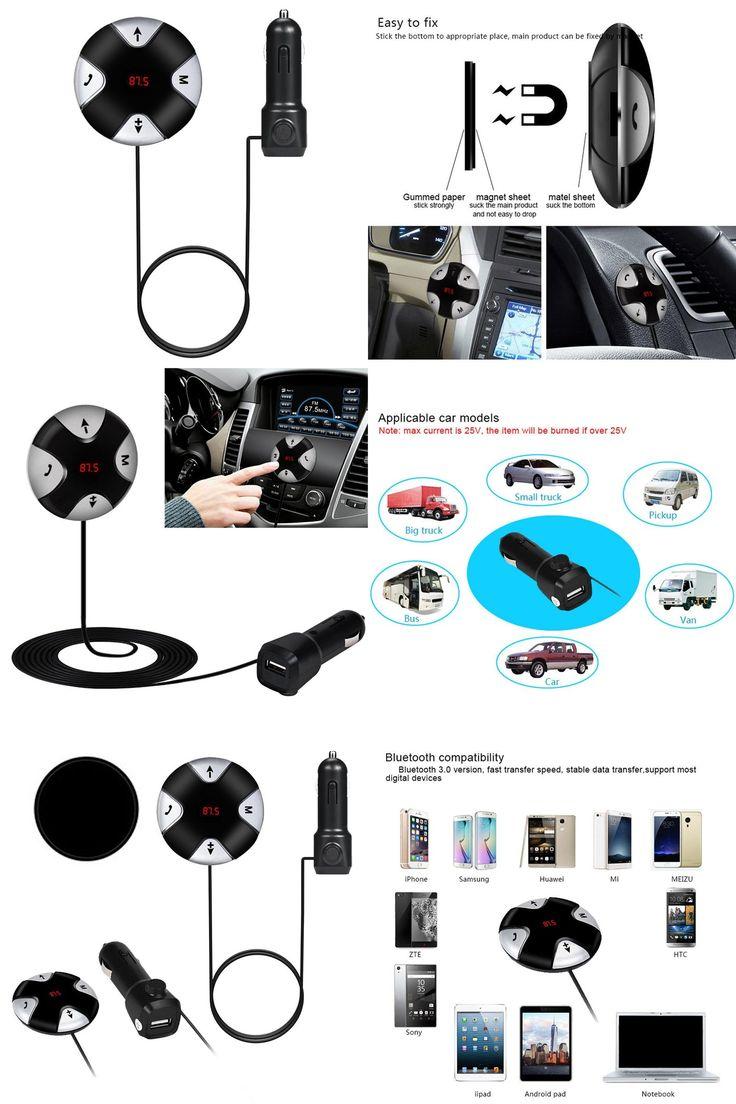 [Visit to Buy] MP3 Music Player Automotive Fashion Design Handsfree Wireless Bluetooth 4.0 FM Receiver 3.5mm TF Car Kit Mp3 Player AUX @#128 #Advertisement