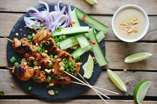 Kublanka vaří doma - Kuřecí satay s arašídovou omáčkou