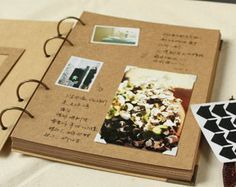 78 páginas de álbum de Kraft / / carpeta Album / / por PapergeekCo