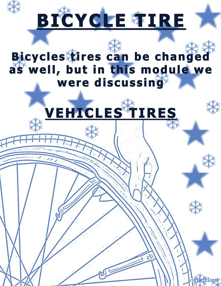 This board will help you learn how to change car/automobile tires not bicycle tires.