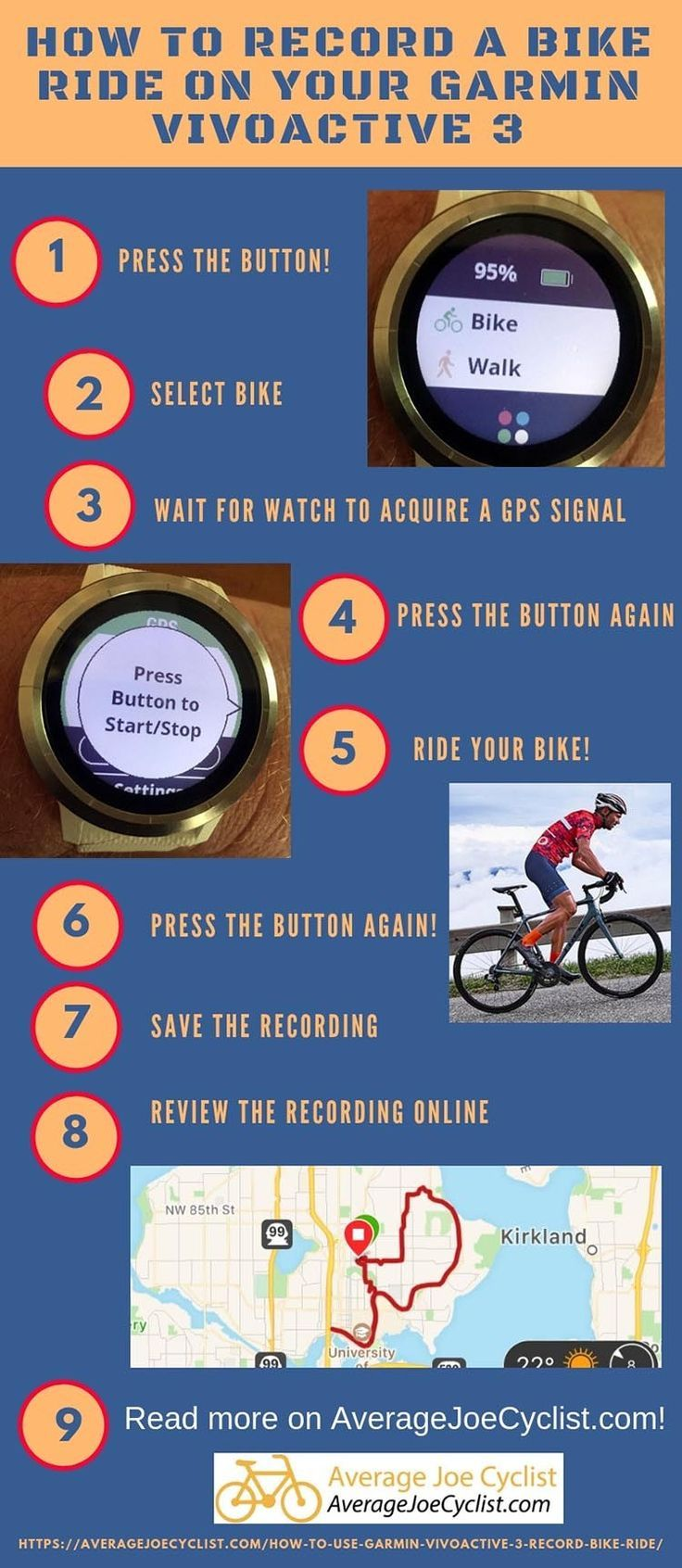 How To Record A Bike Ride With A Garmin Vivoactive 3 Fitness