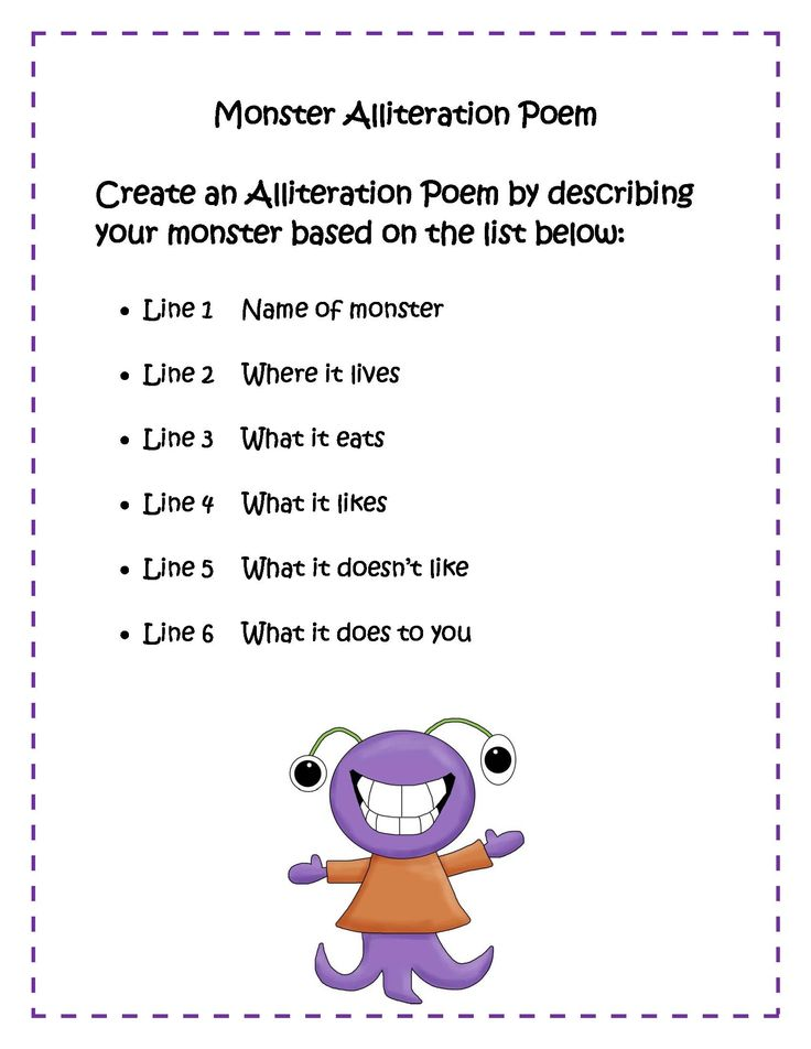 Alliteration poems kids blends google search classroom for Alliteration poem template