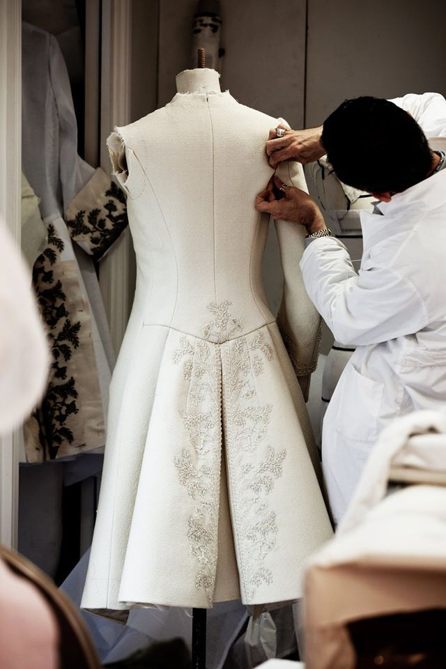 Fashion Atelier - the making of a haute couture coat; sewing; fashion design behind the scenes // Dior Fall 2014