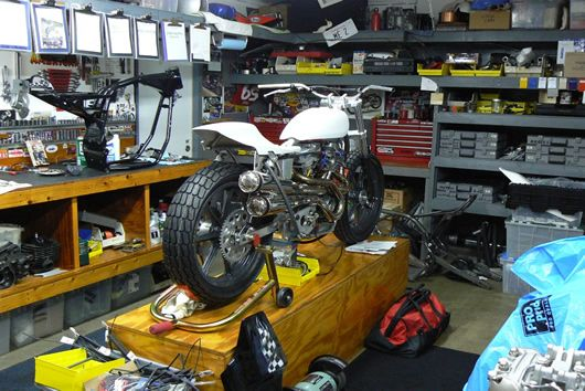 Mule Motorcycles garage workshop - Lots of tip and ideas from a working garage.