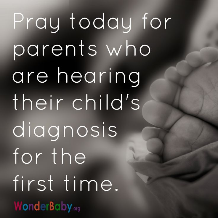 Pray today for parents who are hearing their child's diagnosis for the first time.